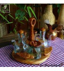 Cruet stand out of olivewood