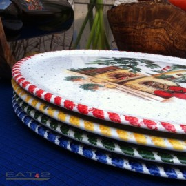 Pizza dish original italian mediterranean style