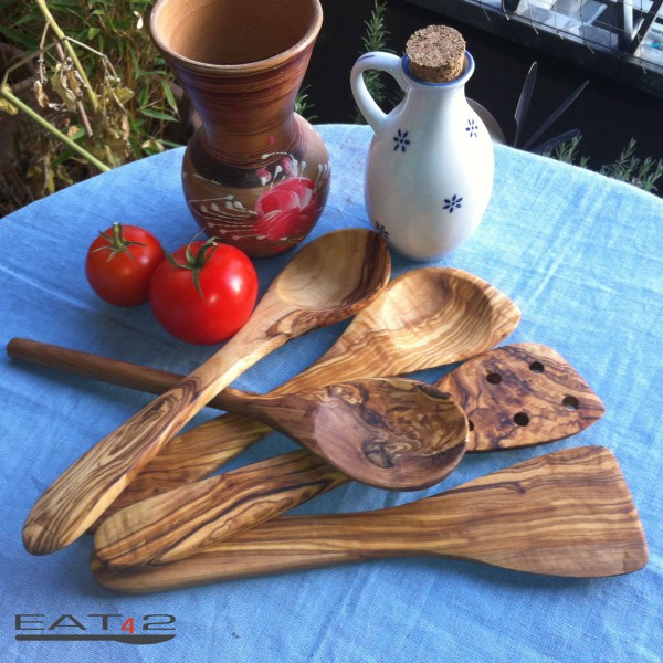 olive wood spatula kitchen aid Set - 5 pcs