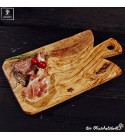 Olive wood board with special shaped handle