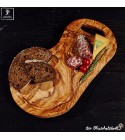 Cutting board, natural shaped, with juice groove and handle