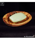 olive wood oval soap holder inclusive soap 100g
