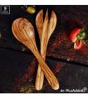 Salad cutlery olive wood