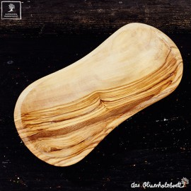 Bowl, olive wood, natural rounded