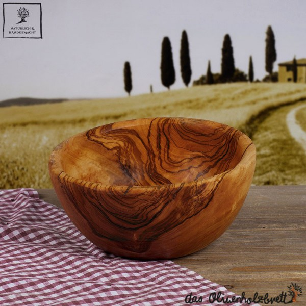 Set of olive wood bowls (3items)