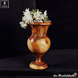 vase out of olive wood